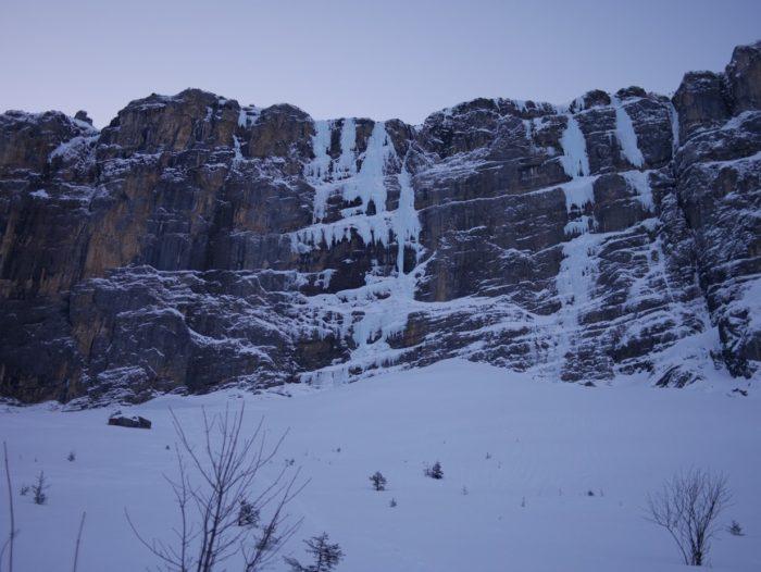 cascade de glace à Kandersteg : Metro