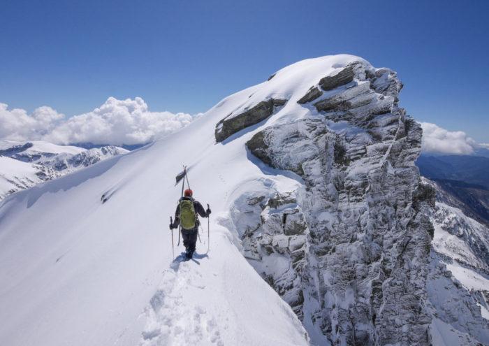Ski alpinisme dans le Mercantour